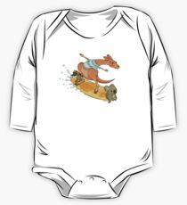 Surfender Känguru und Freunde Baby Body Langarm