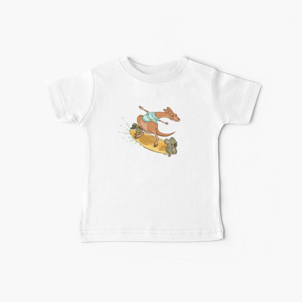 Surfing kangaroo and friends Baby T-Shirt