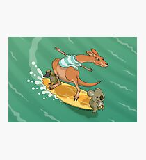 Surfing kangaroo and friends Photographic Print