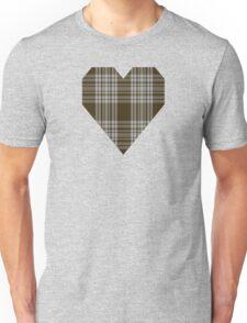 00422 Menzies Brown & White Tartan  Unisex T-Shirt
