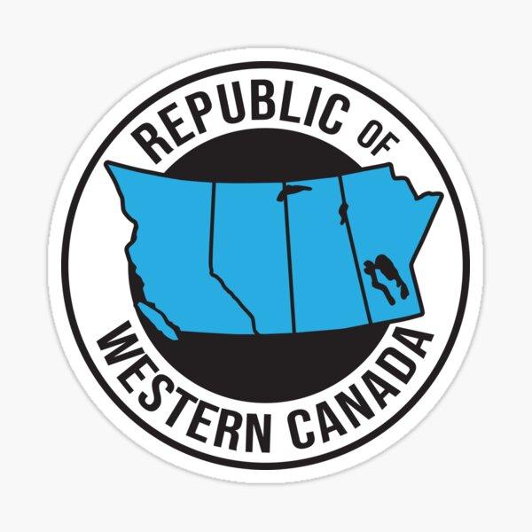 Wexit Republic of Western Canada Separation Alberta Manitoba Saskatchewan British Columbia HD High Quality Online Store Sticker