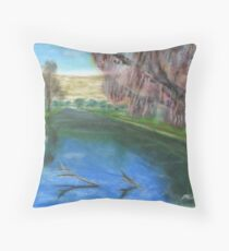 Riverscape Throw Pillow