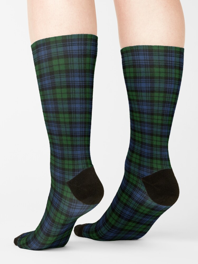 Alternate view of Black Watch Ancient  Original Scottish Tartan Socks