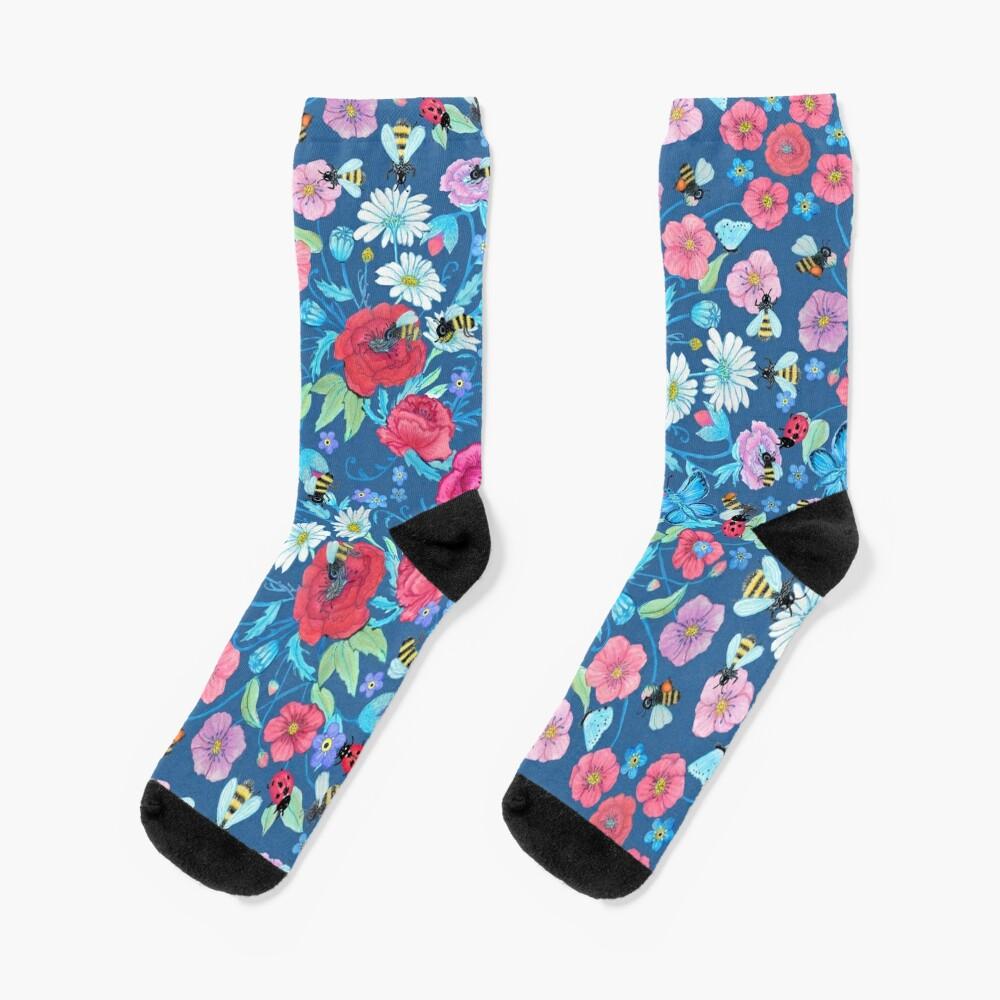 Summer Floral Honey bee Socks