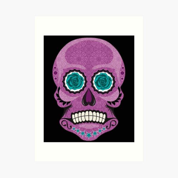 Sugar Skull Mr Skullkin Art Print