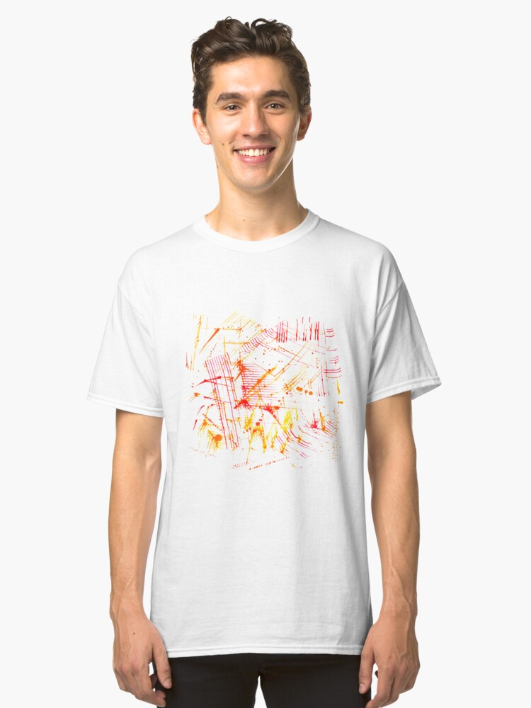 Watercolor abstract strokes Classic T-Shirt Front
