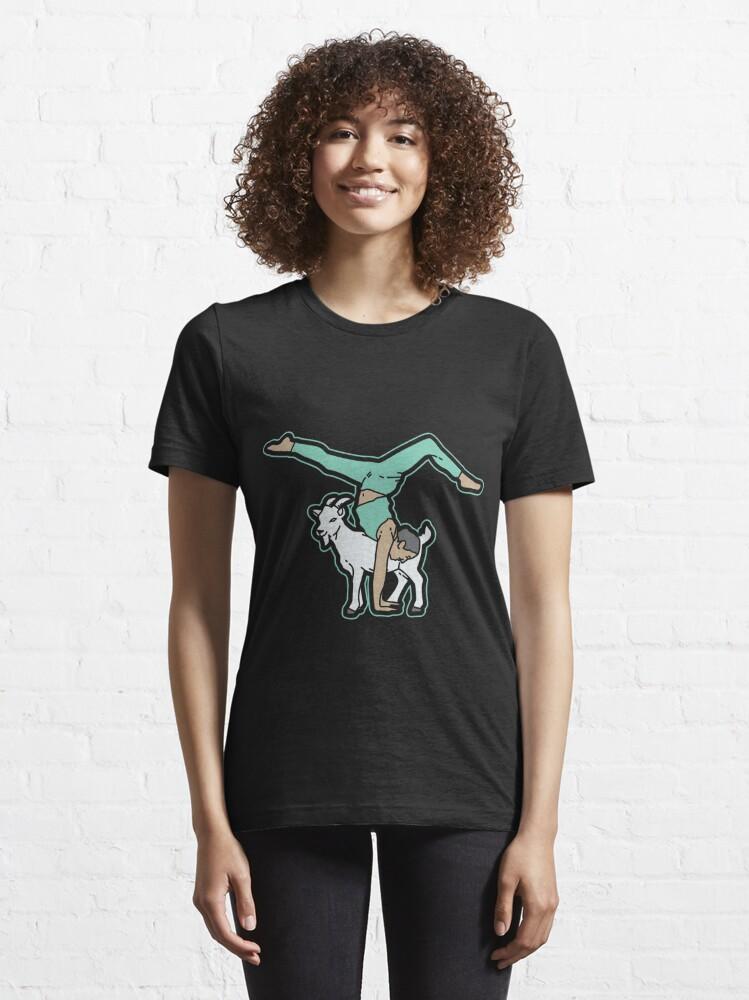 Alternative Ansicht von Goat Yoga Essential T-Shirt