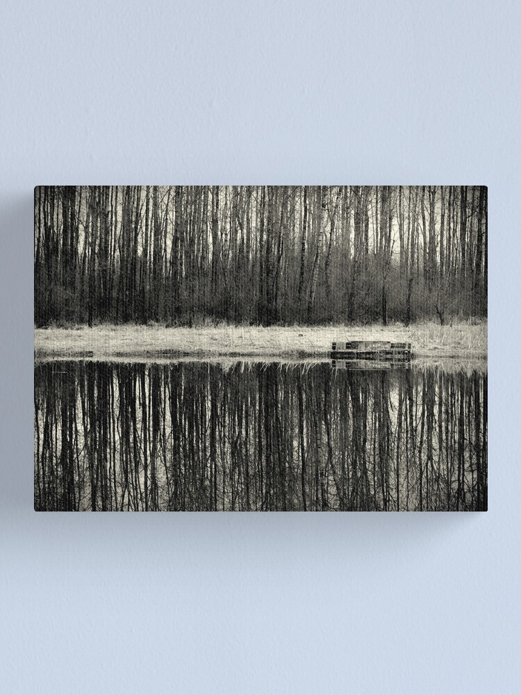 Alternate view of Isolation in BW Canvas Print