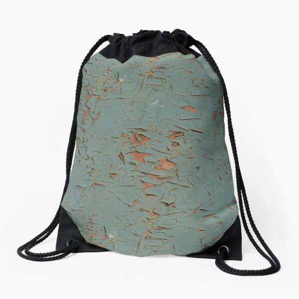 Old blue paint Drawstring Bag
