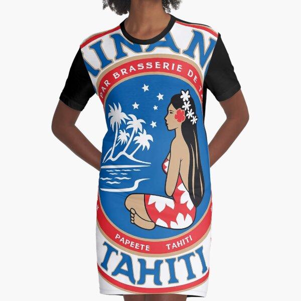 HINANO TAHITI Graphic T-Shirt Dress