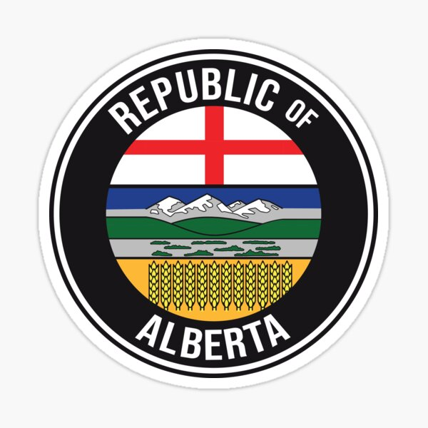 Wexit Republic of Alberta Separation Western Canada Separatist Movement black background HD High Quality Online Store Sticker