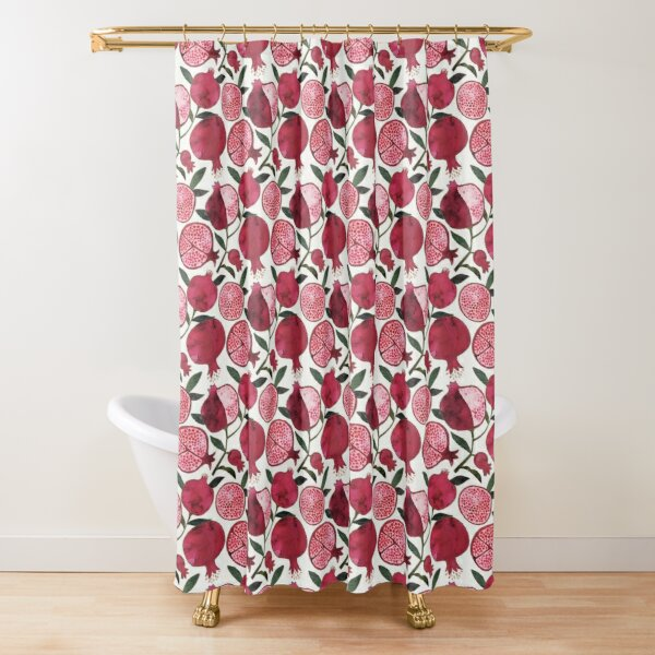 watercolor pomegranates Shower Curtain