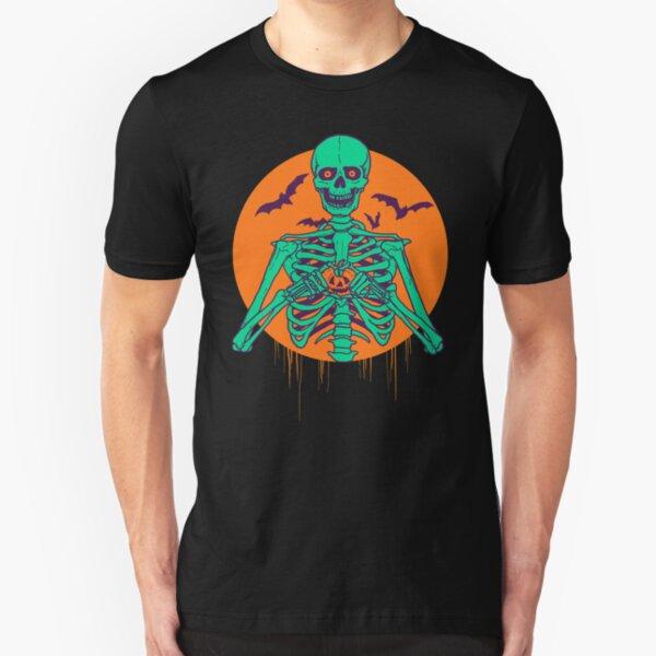 I Love Halloween Slim Fit T-Shirt