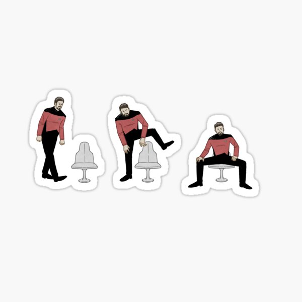 Riker Sitting Sticker