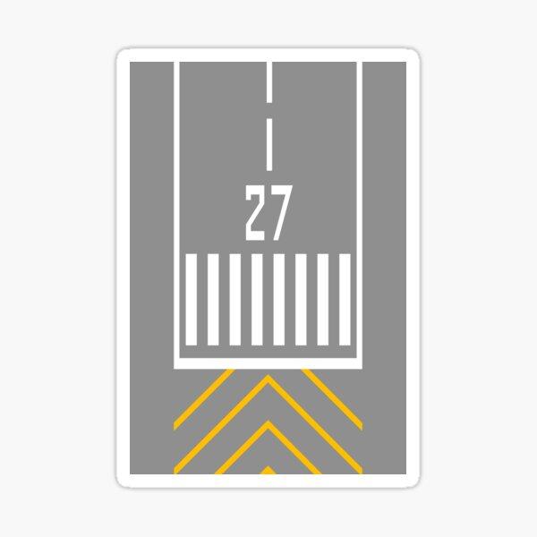 Threshold RWY 27 Sticker