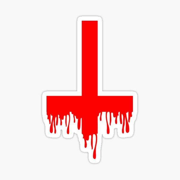 Bleeding red cross Sticker