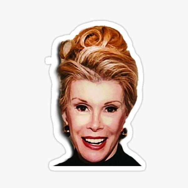 Junge Joan Rivers [Mischtechnik] Sticker