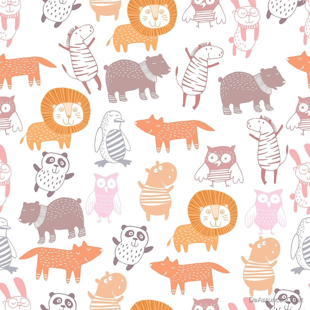cute animal kids pattern by DeAssuncaoCreat