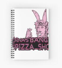 """Tina's """"Pizza"""" Shop  Spiral Notebook"""