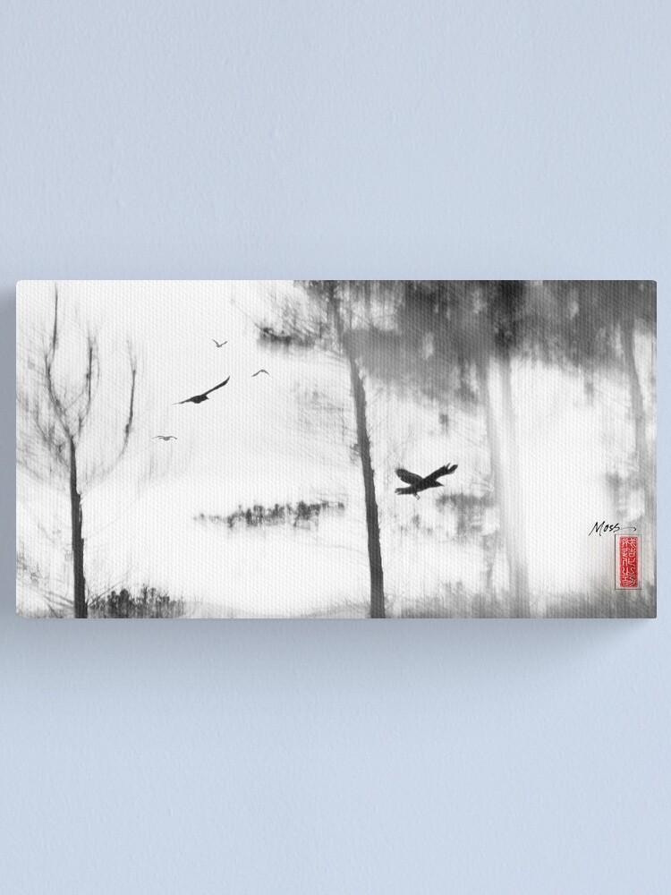 Alternate view of Bush Ravens Canvas Print