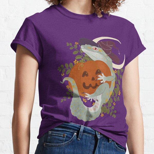 Leopard Gecko and Jack-O-Lantern Classic T-Shirt