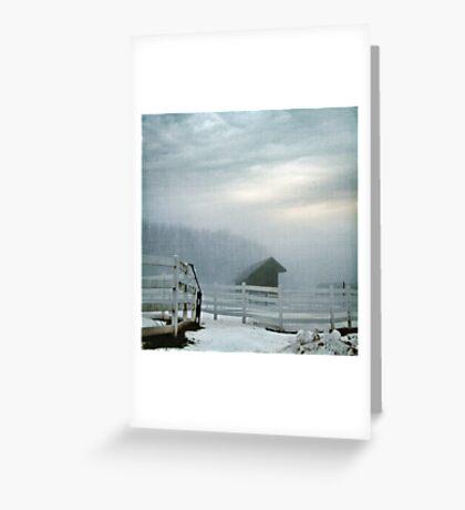 Blue Fog V Greeting Card