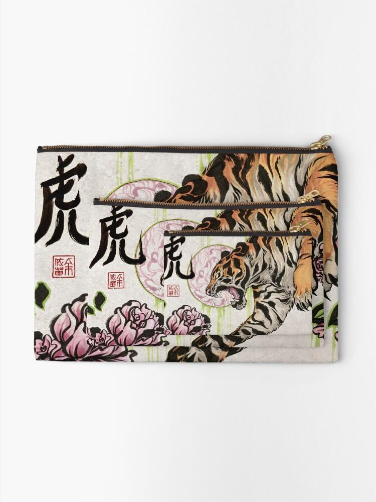 Alternate view of Tiger Zipper Pouch