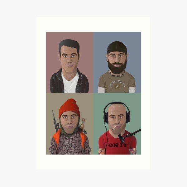 The Evolution of Joe Rogan Art Print