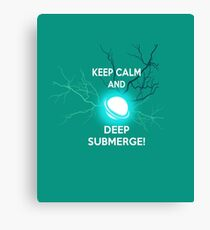 Keep Calm and Deep Submerge - Sailor Moon Canvas Print