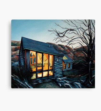 Wales Cottage at Dusk Canvas Print