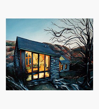 Wales Cottage at Dusk Photographic Print