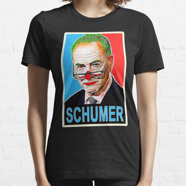 """Chuck Schumer """"Head Clown"""" Quote Color Block in Iconic Bernard Fairey HOPE Poster Style  Essential T-Shirt"""
