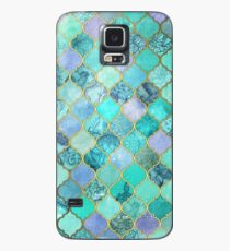 Cool Jade & Icy Mint Decorative Moroccan Tile Pattern Case/Skin for Samsung Galaxy