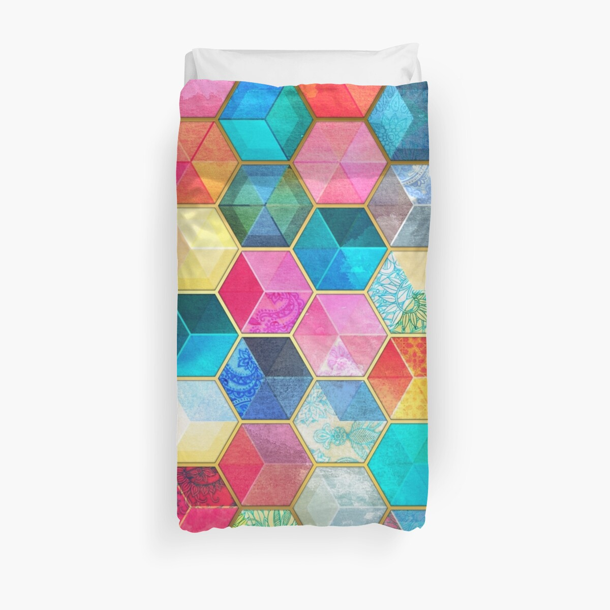 Quot Crystal Bohemian Honeycomb Cubes Colorful Hexagon