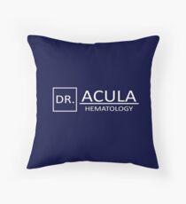 DR. Acula Throw Pillow