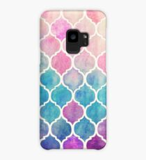 Rainbow Pastel Watercolor Moroccan Pattern Case/Skin for Samsung Galaxy
