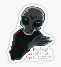 alien onlooker Sticker
