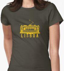 Lisboa yellow Women's Fitted T-Shirt