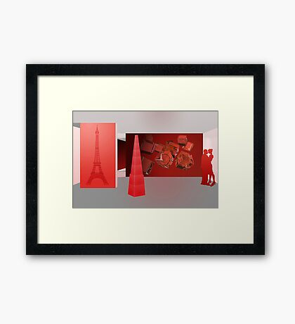 Love in Paris - the color red Framed Print