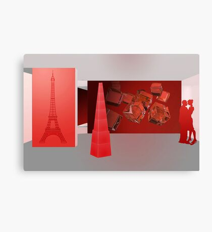 Love in Paris - the color red Canvas Print