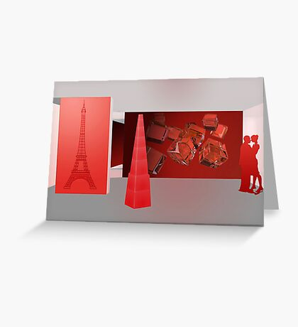 Love in Paris - the color red Greeting Card