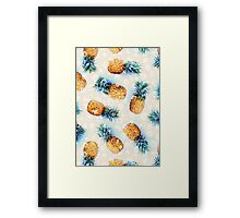 Pineapples + Crystals Framed Print