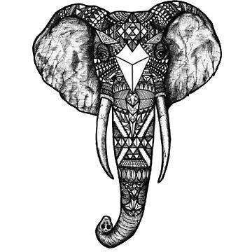 aztec elephant  by jembatterz