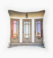 3 Doors Throw Pillow