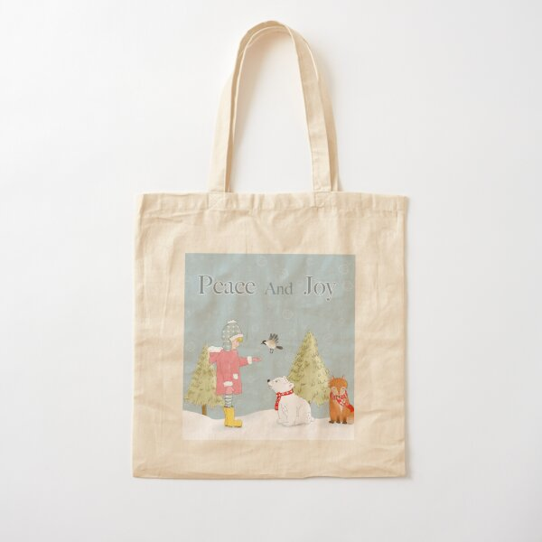 Peace And Joy Cotton Tote Bag