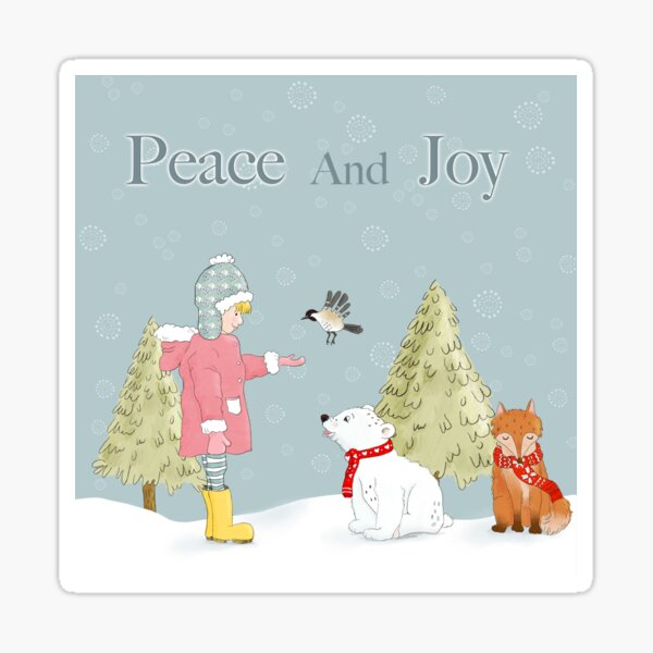 Peace And Joy Sticker