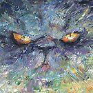 Intense Persian Cat painting Svetlana Novikova by Svetlana  Novikova