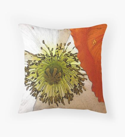 Tall poppies, proud. Throw Pillow
