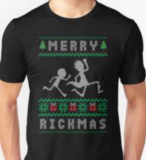 RICK AND MORTY UGLY CHRISTMAS Slim Fit T-Shirt