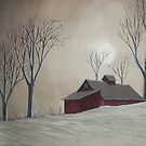 Majestic Winter Night by Charlotte  Blanchard
